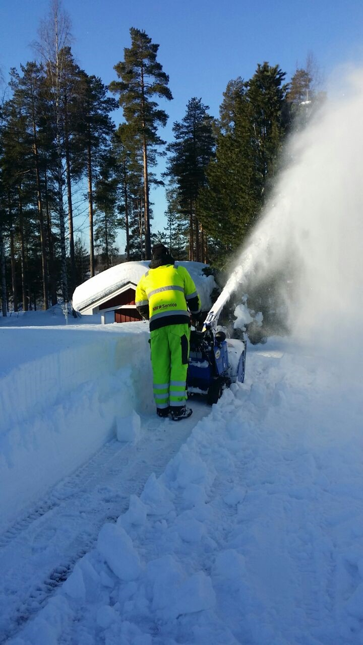 Effektiv snöskottning